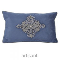 porto-blue-velvet-cushion