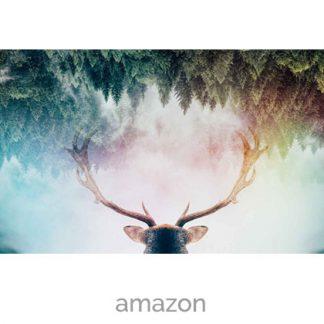 wallpaper deer forest