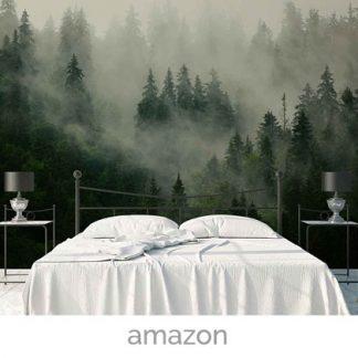 wallpaper forest mist