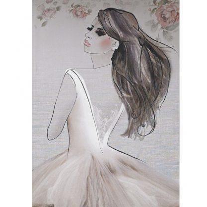 drawing fashio girl canvas