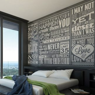 wallpaper mural chalk quotes