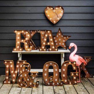 vintage letters light